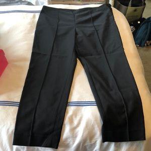 St. John black Capri pants